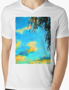 Yellow Clouds above the Treetops 2 Mens V-Neck T-Shirt