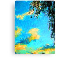 Yellow Clouds above the Treetops 2 Canvas Print