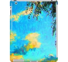 Yellow Clouds above the Treetops 2 iPad Case/Skin