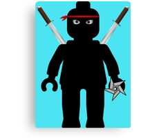 Ninja Minifig / TMNT Foot Soldier Canvas Print