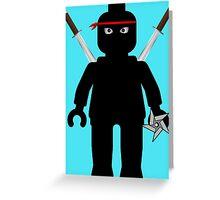 Ninja Minifig / TMNT Foot Soldier Greeting Card