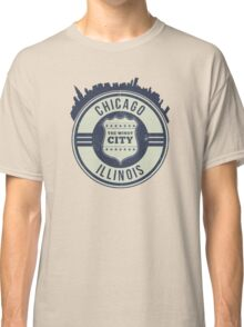Chicago The Windy City Skyline Stamp Classic T-Shirt