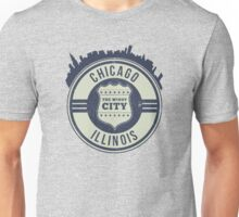 Chicago The Windy City Skyline Stamp Unisex T-Shirt
