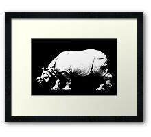 Rhino Crossing Framed Print
