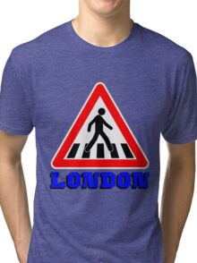 LONDON-ZEBRA CROSSING Tri-blend T-Shirt