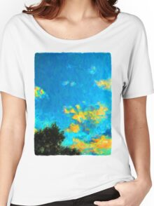 Yellow Clouds above the Treetops 1 Women's Relaxed Fit T-Shirt