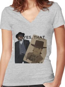 THAT Doc Holliday Women's Fitted V-Neck T-Shirt