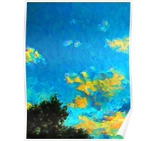 Yellow Clouds above the Treetops 1 Poster