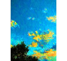 Yellow Clouds above the Treetops 1 Photographic Print