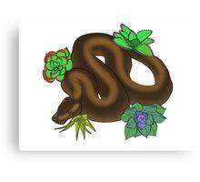 Cinnamon Genetic Stripe Ball Python Canvas Print