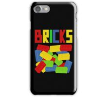 Colored Bricks [Large] by Customize My Minifig iPhone Case/Skin