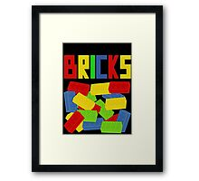 Colored Bricks [Large] by Customize My Minifig Framed Print