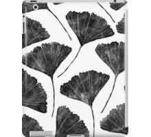 Ginkgo biloba, Lino cut nature inspired leaf pattern iPad Case/Skin