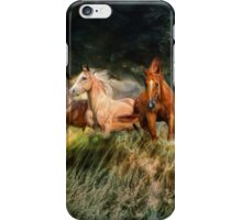 Horses and waves iPhone Case/Skin