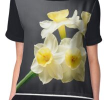 Jonquills are early this year Chiffon Top