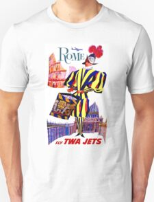 """TWA AIRLINES"" Fly to Rome Advertising Print Unisex T-Shirt"