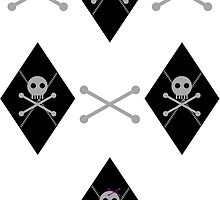 Bones & Skulls Argyle by PrivateVices