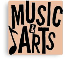 Music And Arts Canvas Print
