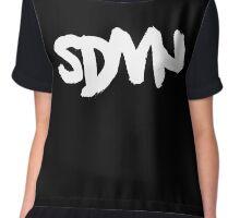 SDMN Brush Text (Black) Chiffon Top