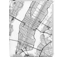 New York City, Map - Black and White iPad Case/Skin