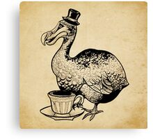 Teatime for Sir Dodo Canvas Print