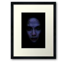 Dark Cracked Female Face Framed Print