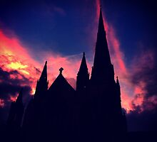 Silhouette of Salford Cathedral by Michaelocm3