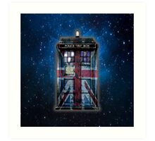 British Union Jack Space And Time traveller Art Print