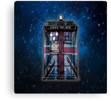 British Union Jack Space And Time traveller Canvas Print