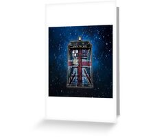 British Union Jack Space And Time traveller Greeting Card