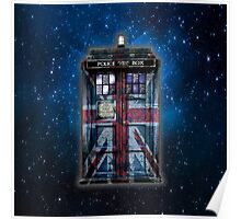 British Union Jack Space And Time traveller Poster