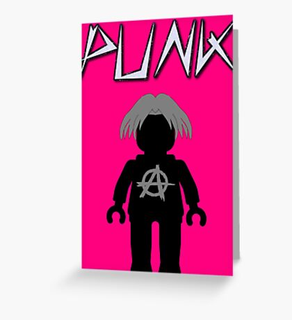 Punk Guitarist Minifig, Customize My Minifig Greeting Card