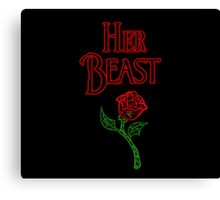 Her Beast Canvas Print