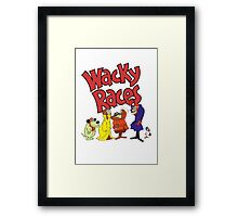 Muttley & Friends Unite Wacky Races Framed Print
