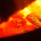 hot coals in the fire by BigAndRed