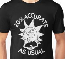 Rick and Morty 20% accurate as Usual Unisex T-Shirt