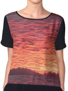 Oregonian sunset  Chiffon Top