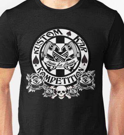 Hot Rod-Skull, Roses, Pistons and Spades Unisex T-Shirt