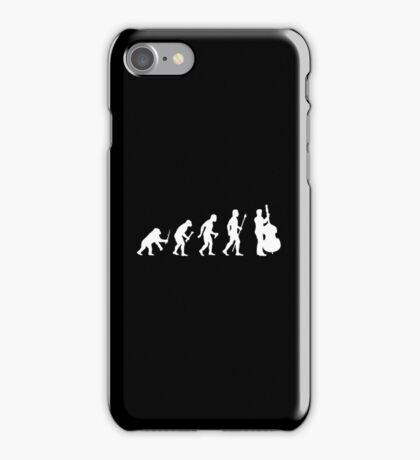 Double Bass Evolution Of Man iPhone Case/Skin