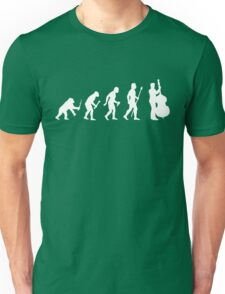 Double Bass Evolution Of Man Unisex T-Shirt