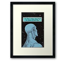 Dr. Manhattan // WATCHMEN Framed Print