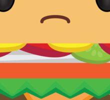 Grumpy Cheeseburger Sticker