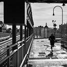 Running, Williamsburg Bridge by prbimages