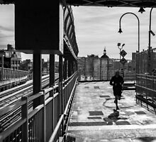 Running, Williamsburg Bridge by prbimages