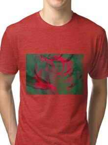Abstract colorful watercolor illustration with paint strokes and swirls. Tri-blend T-Shirt