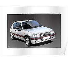 Poster artwork - Peugeot 205 GTI Poster