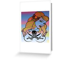 psychedelic rockabelly beauty Greeting Card