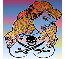 psychedelic rockabelly beauty Photographic Print