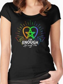 I am Enough Women's Fitted Scoop T-Shirt