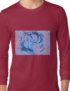 Abstract colorful watercolor illustration with paint strokes and swirls. Long Sleeve T-Shirt